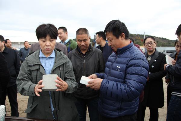 市政协委员集中视察洛南县恒丰发泡陶瓷轻质墙体材料项目