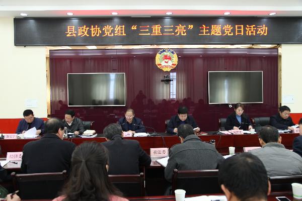 """洛南县政协机关扎实开展""""三重三..."""