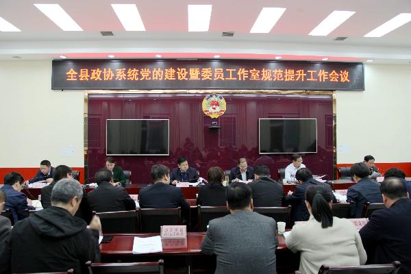 洛南县政协召开政协系统党的建设暨...